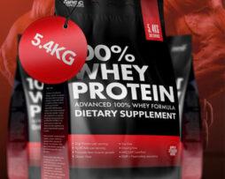 100% whey protein 5400g